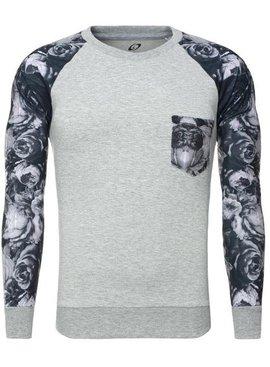 Carisma Sweater Printed Sleeves Grey (Maat L)