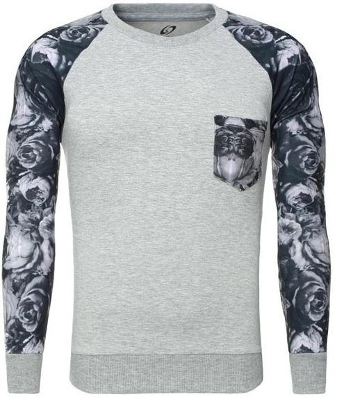Carisma Sweater Printed Sleeves Grey