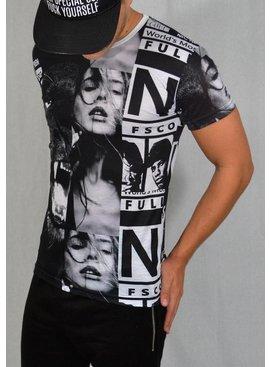 ReRock T-shirt Girl White Black (S/M/L)