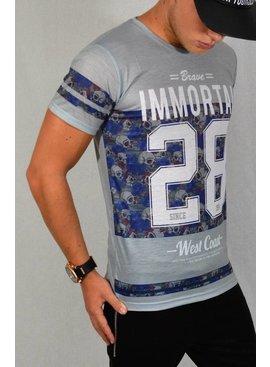 ReRock - T-shirt Immortal 28 Grey