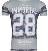 ReRock - T-shirt Immortal 28 Grey