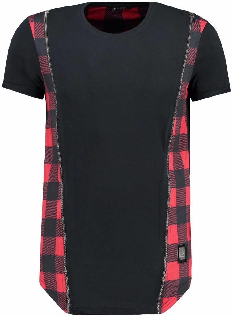 Blackrock T-shirt Double Zip Black & Red