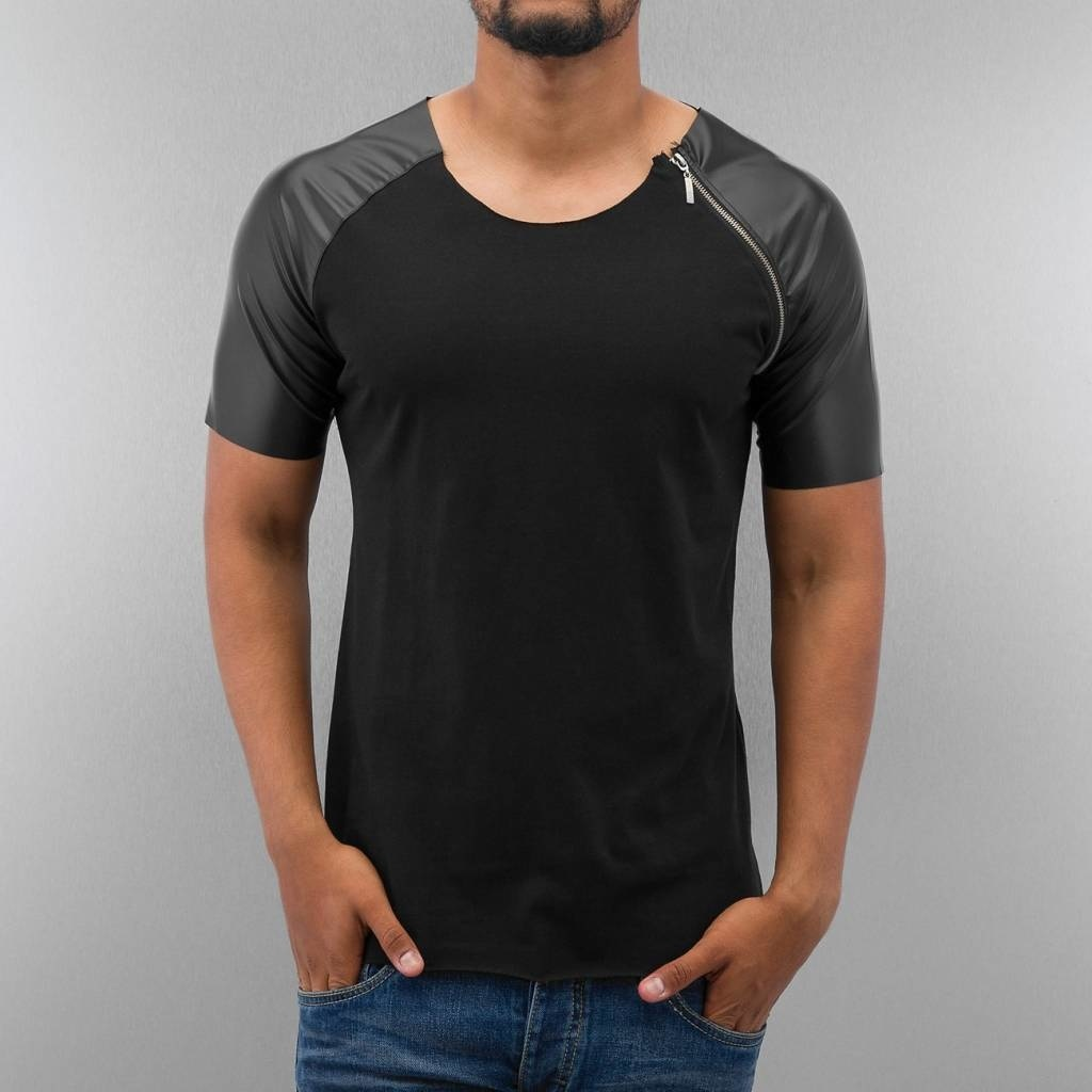 Bangastic T-shirt Shoulder Leather Look & Zip