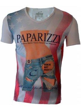 Carisma T-shirt Paparizzi Wit (L)