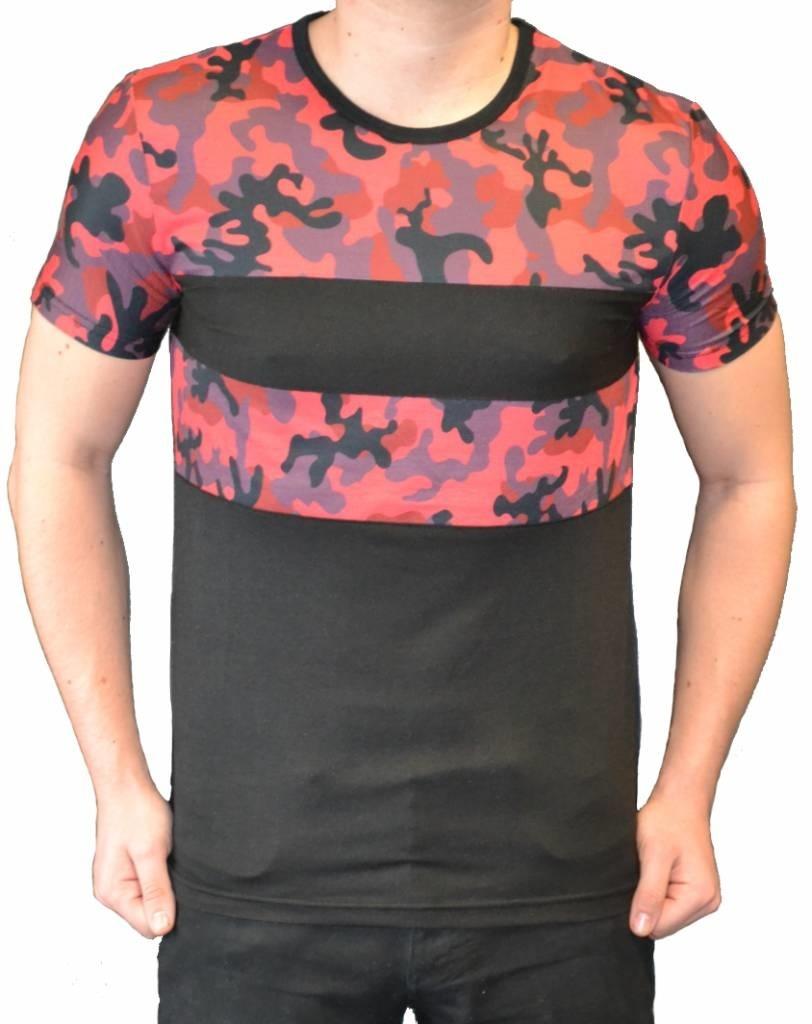 John H - T-shirt Camo Red