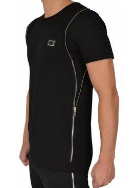 Leif Nelson T-shirt Side Zip Black (S/M/L)