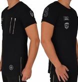 ReRock T-shirt Double Zip & Badges