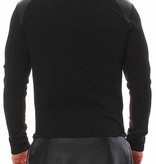 Young & Rich Longsleeve Long Tee Leather Look