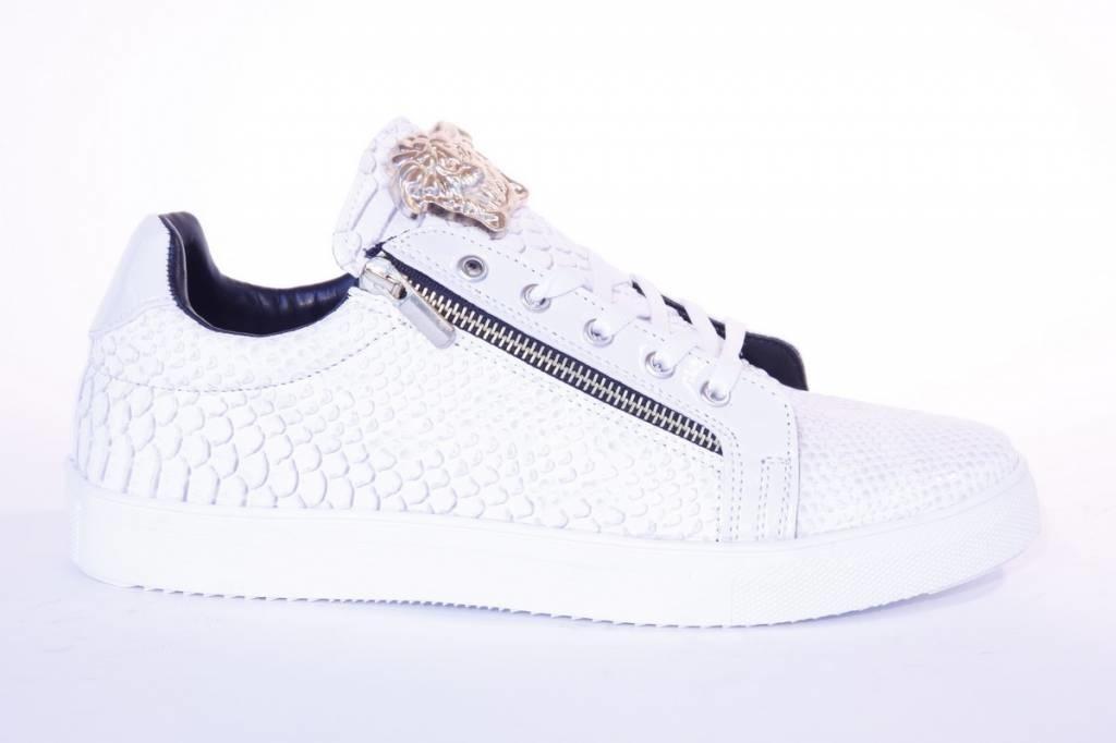 Tamboga Lage Sneaker Snake Rits Wit
