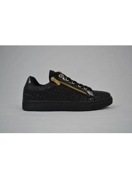 Tamboga Low sneaker snake skin zip black (41/42)