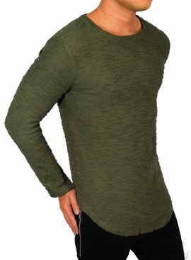 Longsleeve Perfect Fit Details Green (Maat M)