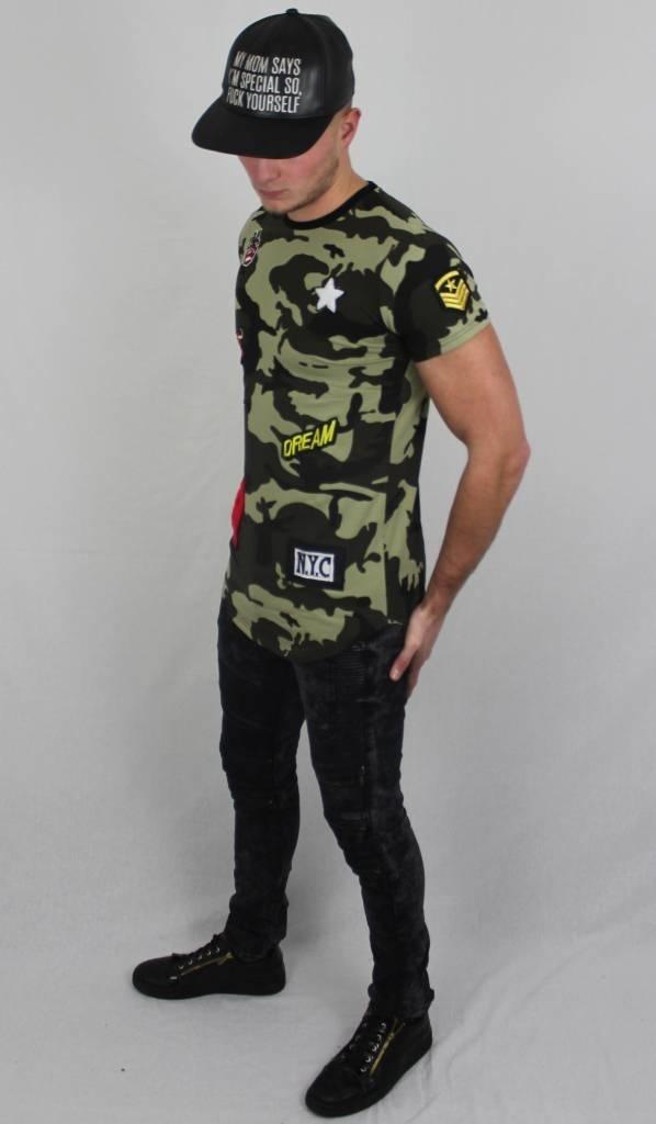 T-shirt Camouflage & Badges