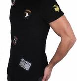 T-shirt Badges Black
