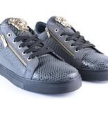 Tamboga Lage Sneaker Snake Rits Grijs