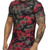 Camo Star T-shirt Red