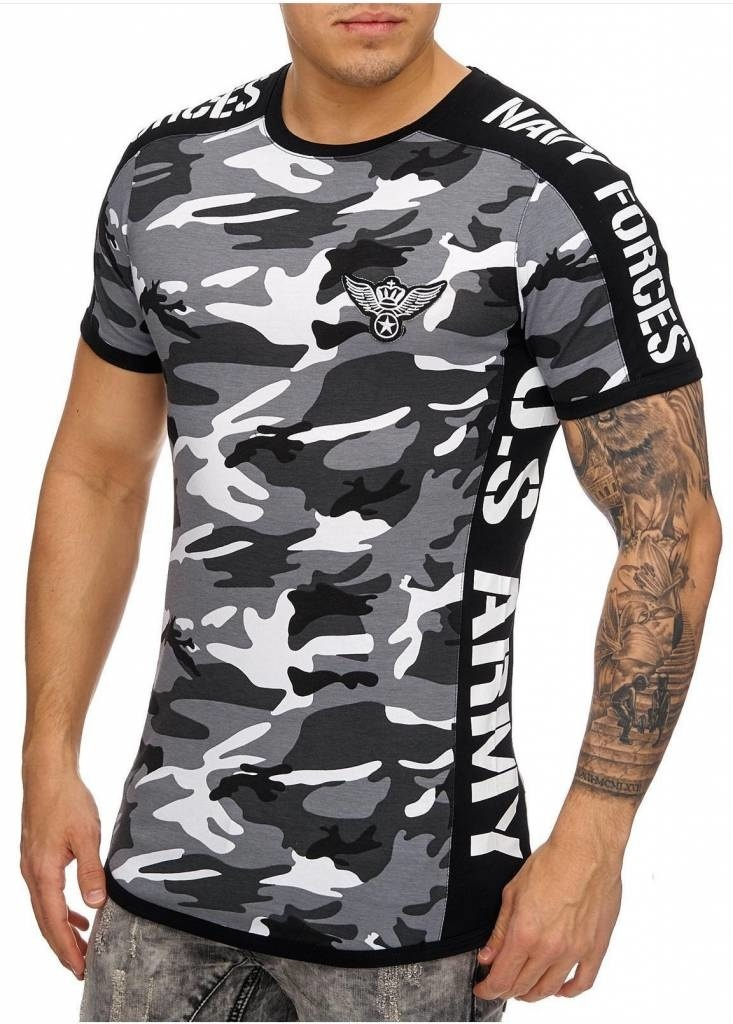 Camo Navy Forces T-shirt White