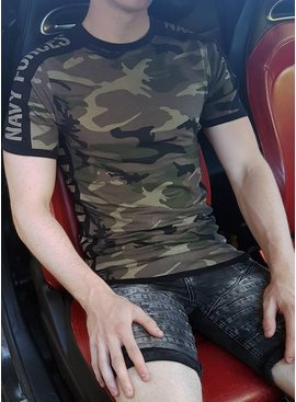 Camo Green Navy Forces T-shirt