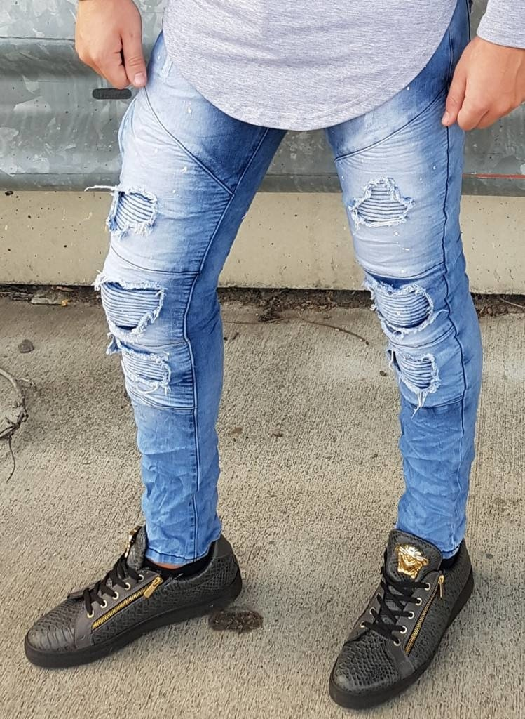 Ripped Skinny Jeans Blue