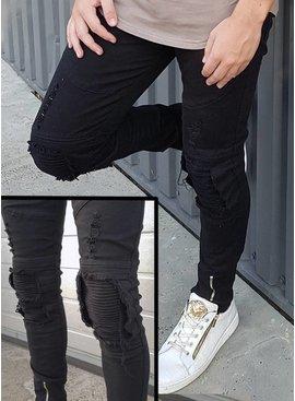 Ripped Skinny Jeans Black (Maat 33 & 36)