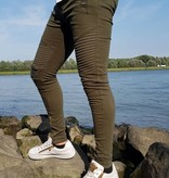 Light Ripped Skinny Jeans Green