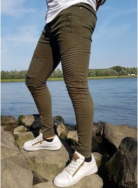 Light Ripped Skinny Jeans Green (Maat 28,29,31) 19-05-19