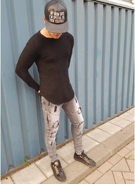 Ribbed Longsleeve Black (Maat S/L)