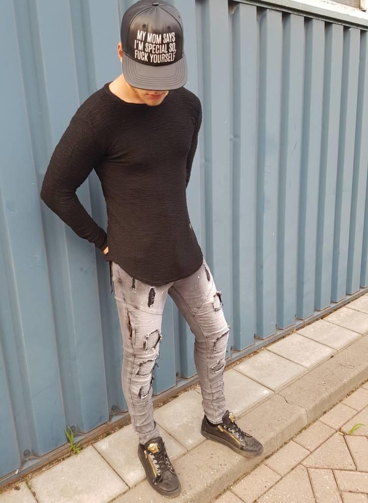Ribbed Longsleeve Black