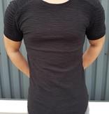 Thick Ribbed T-shirt Black