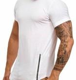 T-shirt Double Zip White