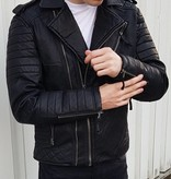 Leather Jacket Zip Details