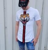 T-shirt Tiger White