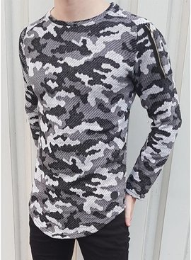 Camouflage Sweater Zip