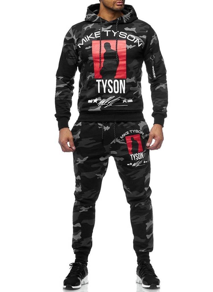 Trainingspak | Tyson | Camo Grijs Zwart