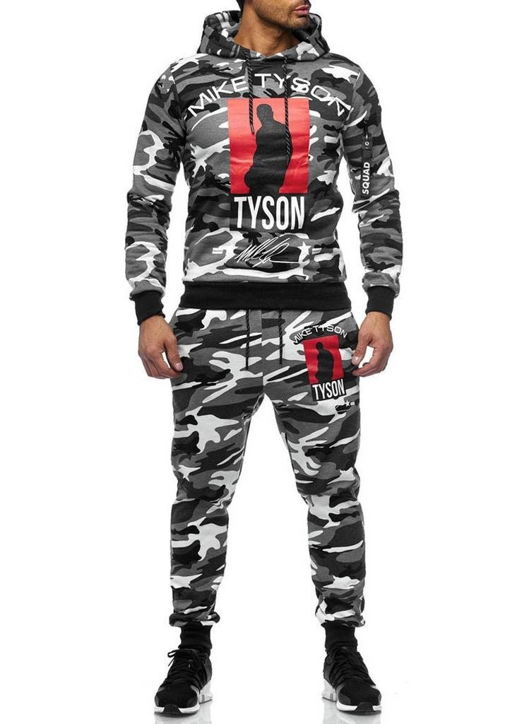 Trainingspak | Tyson |  Camo Wit Grijs Zwart