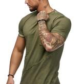 T-shirt | Slim & Long Fit | Kaki | Basic & Stylish | Chest Pocket | K19032