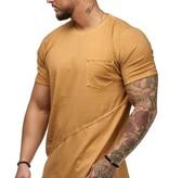 T-shirt | Slim & Long Fit | Geel | Basic & Stylish | Chest Pocket | G19032