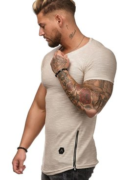 T-shirt Special | Slim-Fit | Ritsen | Beige | BE1W25