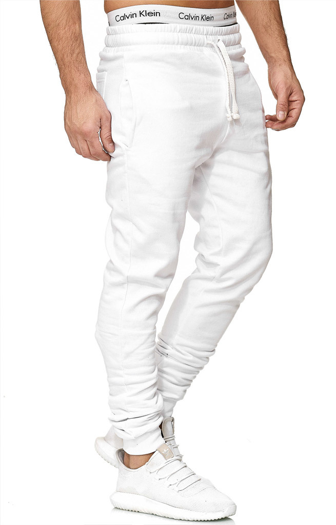 Joggingbroek | Classic | Slim / Normal fit | Wit