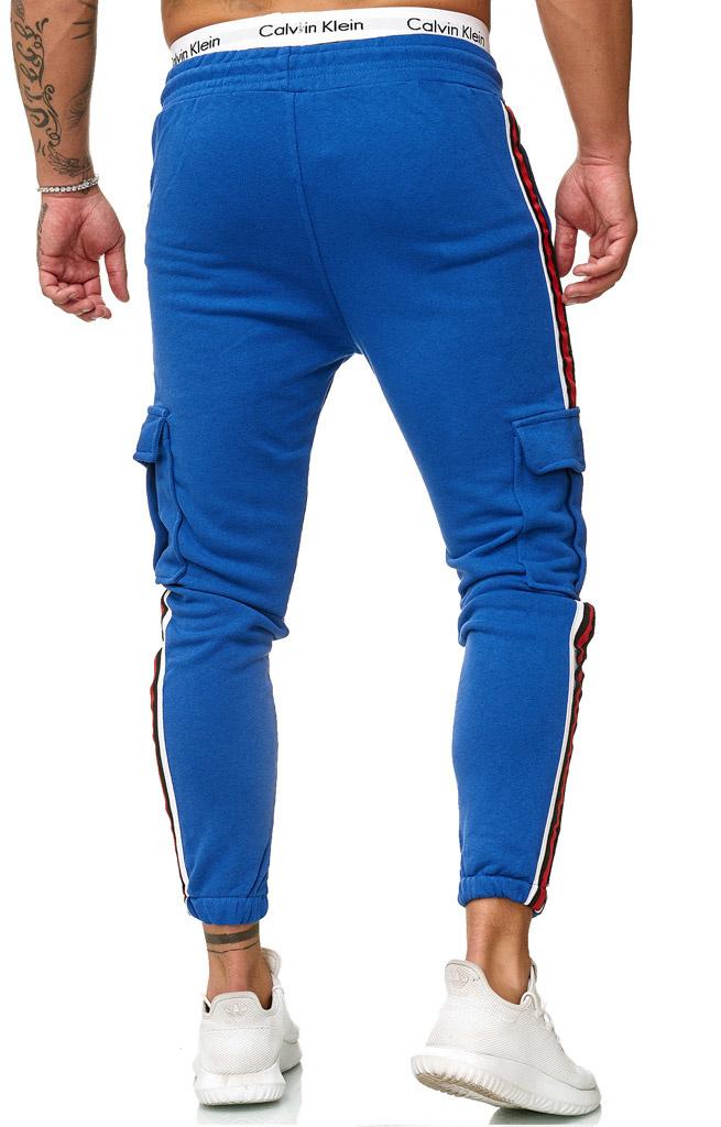 Joggingbroek | Streep Zijkant | Pocket | Slim-fit | Blauw
