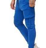 Joggingbroek | Ribbed | Pocker | Slim-Fit | Blauw