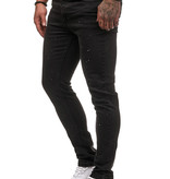 Spotted Jeans Slim Fit Zwart