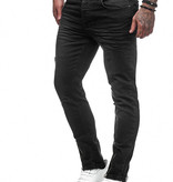 Jeans Small Rips Slim Fit Zwart