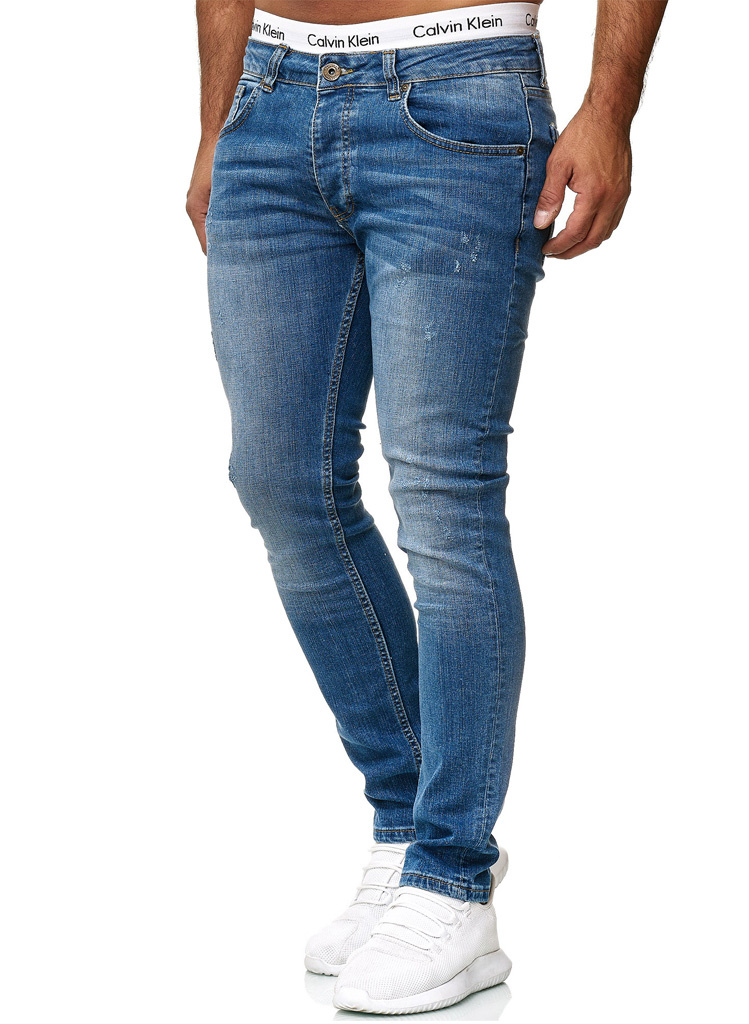 Jeans Basic Slim Fit Lichtblauw