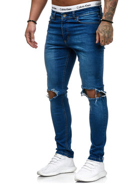 Jeans Ripped Slim Fit Blauw (32)