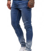 Jeans Spotted Faded  Blauw