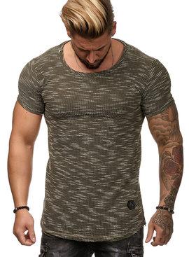 T-shirt Special | Slim-Fit | Ritsen | Groen | G1W25
