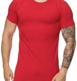 T-shirt Slim & Long Fit Rood RR1023