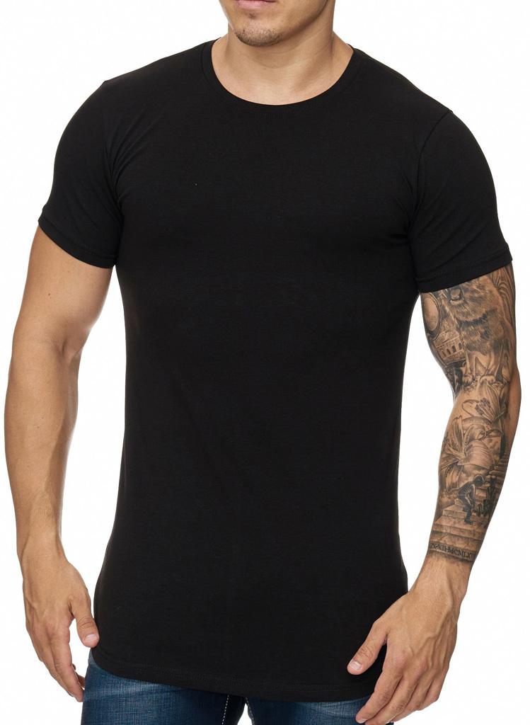 T-shirt Slim & Long Fit Zwart ZR1023