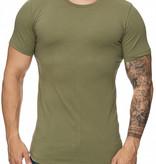 T-shirt Slim & Long Fit Groen GRR1023