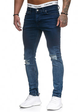 Jeans Ripped & Faded Blauw